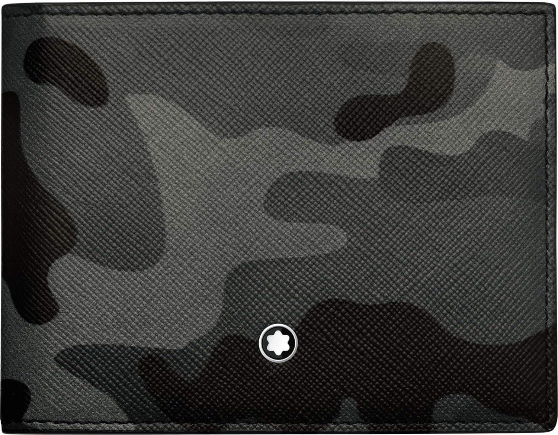 Montblanc 118675 Sartorial 4cc Saffiano Leather Wallet 11.2 x 8.6 cm Camouflage Grey