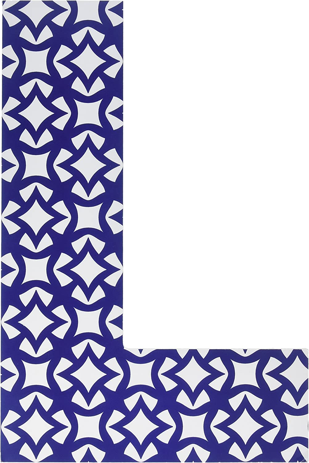 The Home Stupell Home Decor Collection Geometric Hanging Wooden Initial, Navy White, L, 18