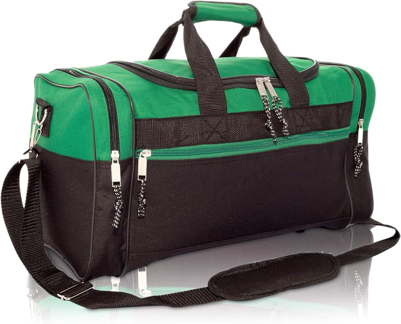 17  Blank Duffle Bag Duffel Bag Travel Size Sports Durable Gym Bag (Green)
