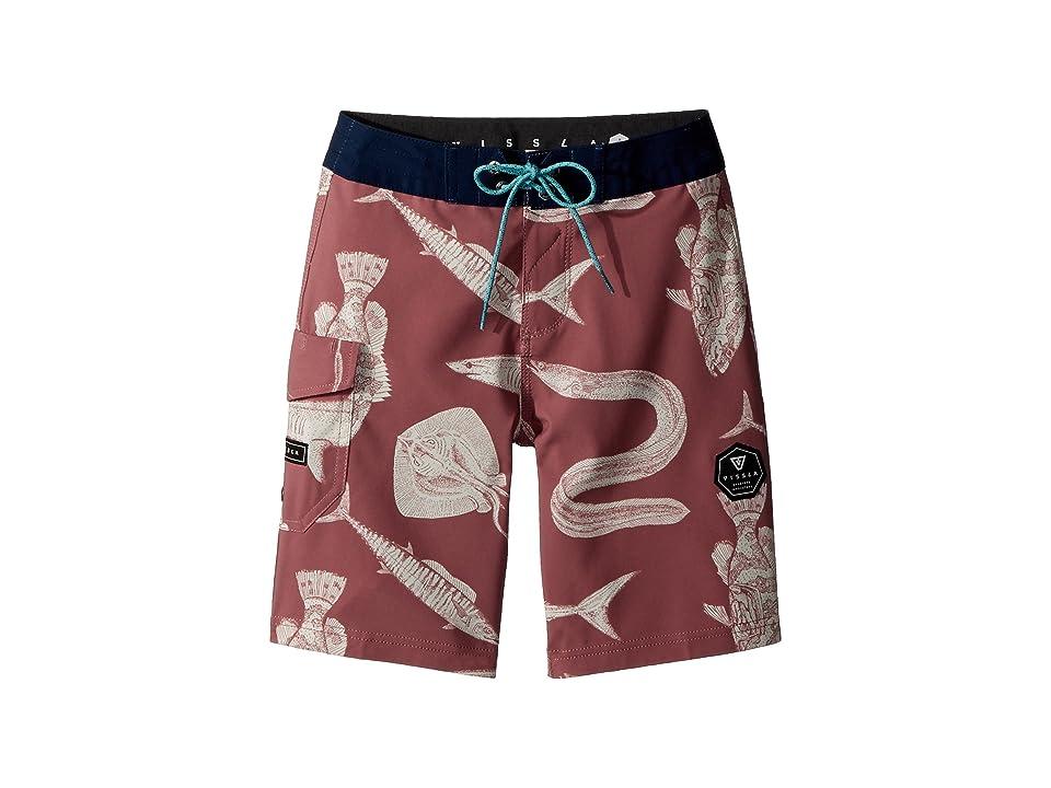 VISSLA Kids Fathoms Washed Four-Way Stretch Boardshorts 17 (Big Kids) (Plumeria) Boy