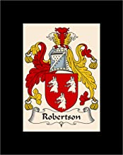 Carpe Diem Designs Robertson Coat of Arms/Robertson Family Crest 8X10 Photo Plaque, Personalized Gift, Wedding Gift
