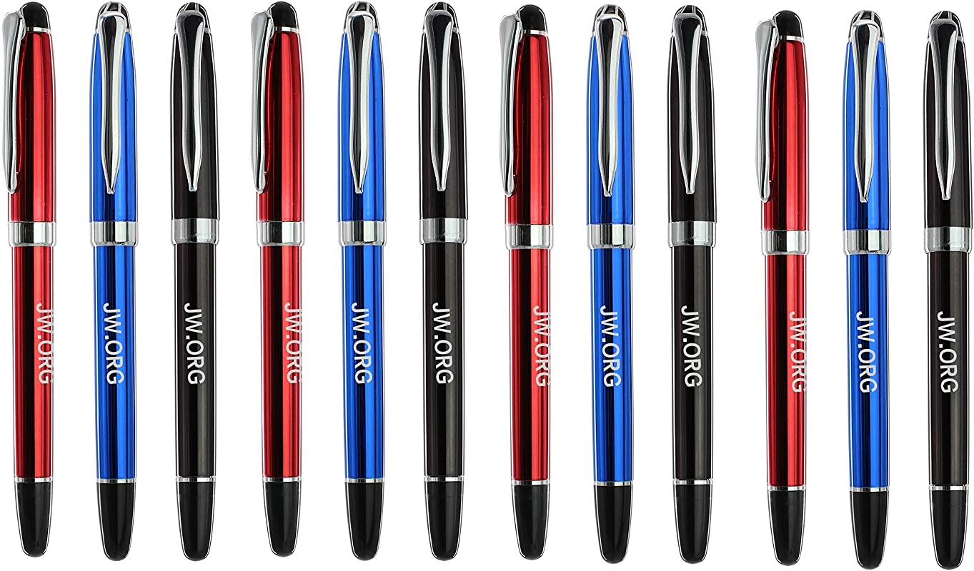 Best 12 Pack JW ORG Pen Jehovah S Witnesses Pens Spread The Message 4Blue 4Red 4Black Black Ink Pens