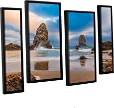Scott Campbell's Aren't STARFISH Supposed to Be Underwater, 4 Piece Floater Framed canvas Staggered Set 24x36