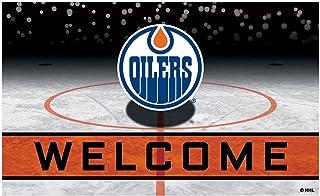 FANMATS 21272 Team Color Crumb Rubber Edmonton Oilers Door Mat, 1 Pack