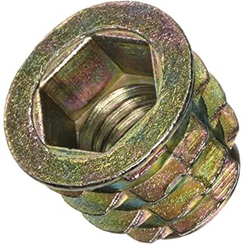 Pack of 100 Zinc Fоur Paсk 1//4-20 Internal Threads 13mm Length E-Z Lok Threaded Insert Hex-Flanged