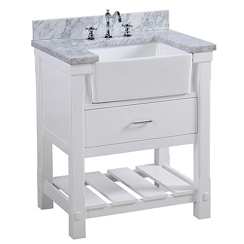 Groovy Farm Sink Vanity Amazon Com Home Interior And Landscaping Mentranervesignezvosmurscom