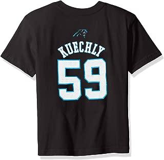 NFL Boys 4-7 Luke Kuechly Carolina Panthers Mainliner Name & Number Short Sleeve Tee, Large/(7), Black