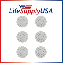 LifeSupplyUSA Replacement 6 Pack Anti-Mineral Pads Compatible with Boneco Air-O-Swiss AOS A451 S450 Steam Humidifier