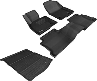 3D MAXpider Fitted Car Mat - Complete Set of Custom Fit All-Weather Car Mats - Including Cargo Liner and Bundled Car Duster - for Mazda 6 (2014-2019) - Kagu Rubber (Black)