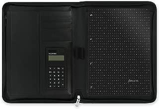 Filofax Metropol Zipped Folder with Calculator - Black