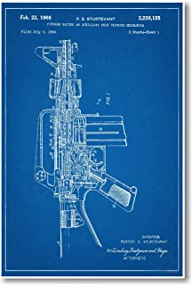 AR 15 Assault Rifle Patent - NEW Famous Invention Blueprint Poster