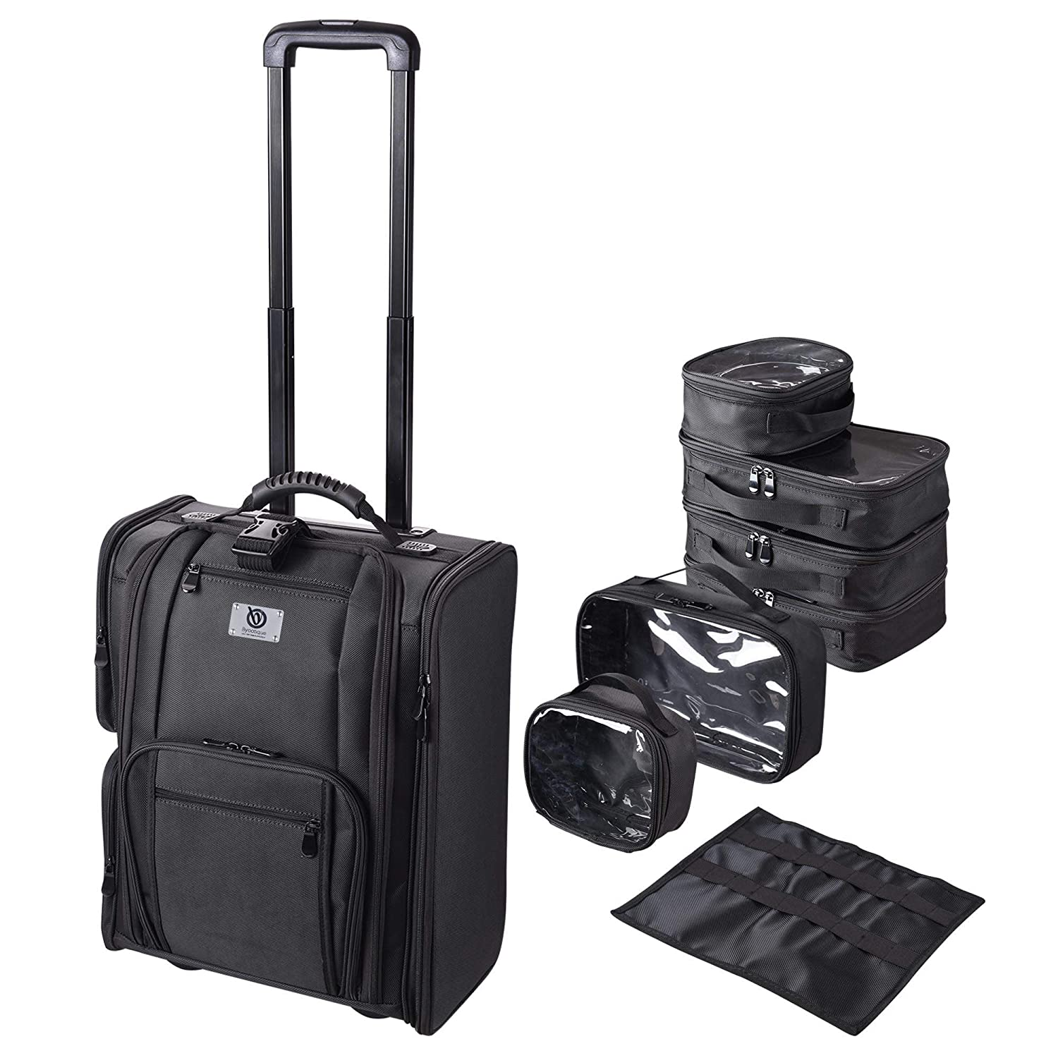 Makeup Case - Professional Soft Sided Selling and selling Travel Cosmetic Or online shopping Rolling