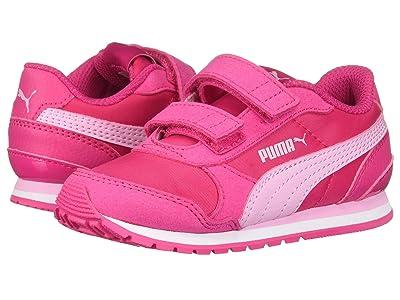 Puma Kids ST Runner Velcro (Toddler) (Fuchsia Purple/Pale Pink) Girl