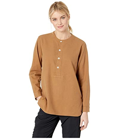 Snow Peak Cotton/Wool Flannel Sleeping Shirt (Brown) Women