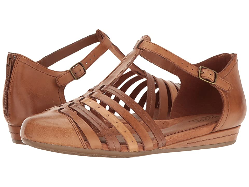 Rockport Cobb Hill Collection Cobb Hill Galway Strappy T (Tan Multi Leather) Women