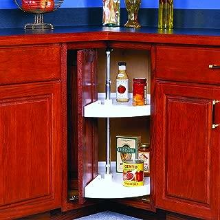 Kv Lazy Susan Pie Cut Door Mounted 2 Polymer Shelves 28