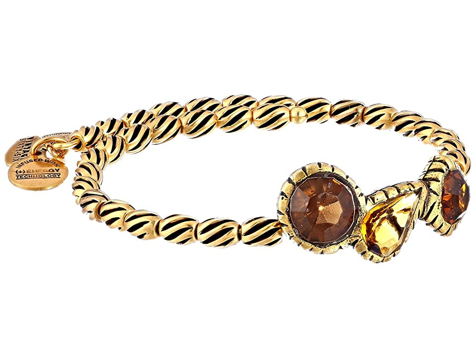 Alex and Ani The Night's Mosaic Coll. Treasure Trove Wrap Bracelet (Rafaelian Gold/Topaz) Bracelet