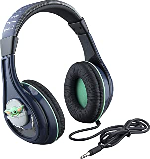 "Star Wars The Child Wired Headphones ""AKA Baby Yoda"" Clear Stereo Sound Parental Volume Control, Aux Cable, The Mandaloria..."