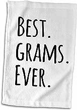 "3D Rose Best Grams Ever Grandmothers-Grandma Nicknames-Black Text Towel, 15"" x 22"", Multicolor"