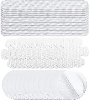 docce Pannow per vasche da bagno 24 pezzi blu pedali adesivi raschietti Adesivi antiscivolo per vasca da bagno