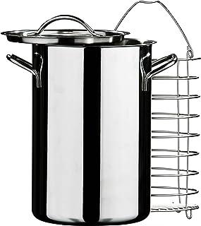 Premier Housewares–Vaporera para espárragos, Plata, 2,5L