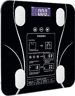 Báscula Báscula de pesaje inteligente para el hogar, pequeña escala de grasa, LED, funciones digitales en inglés, visualización en la pantalla Usb Báscula de Baño