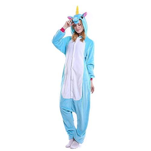 0474a753a Halloween Unicorn Onesie Costume Unisex-Adult Animals Unicorn Pajamas