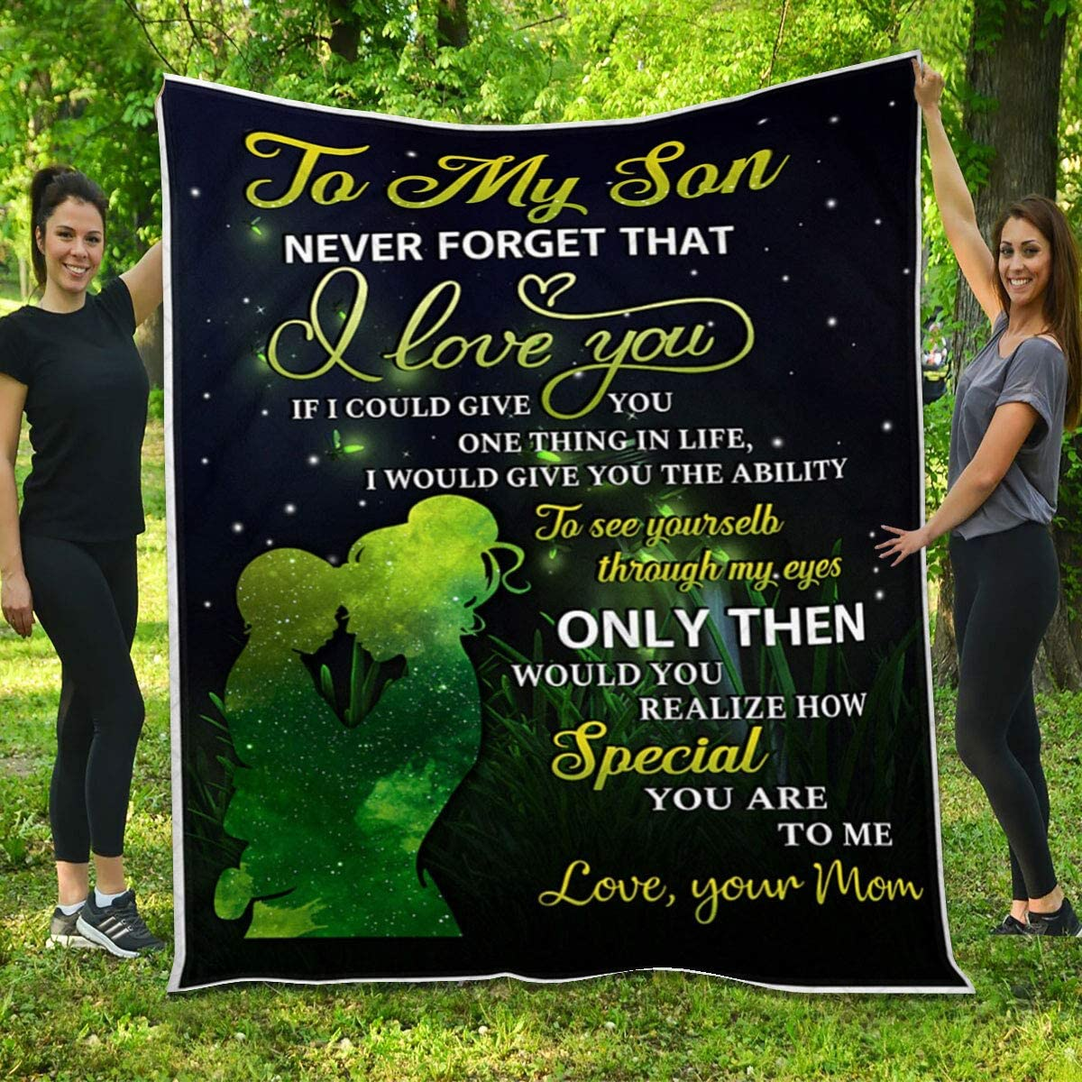 Son Quilt from Mom - Directly managed store low-pricing Girl and Love You Pattern I Firefly