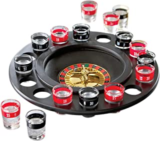 Shot Glass Roulette - Drinking Game Set (2 Balls and 16 Glasses)
