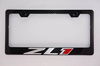 Fit Chevy ZL1 Carbon Fiber License Plate Frame With Cap