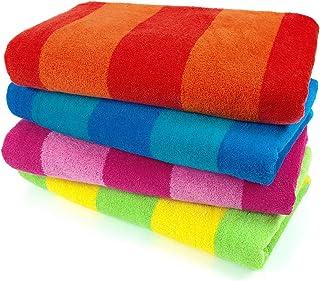 Kaufman – 100% Cotton Velour Striped Beach & Pool Towel...