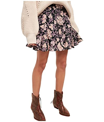 Free People End of The Island Godet (Black Combo) Women