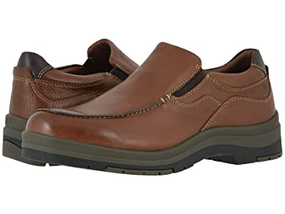 Johnston & Murphy Cahill Moc Venetian (Tan Waterproof Tumbled Full Grain) Men