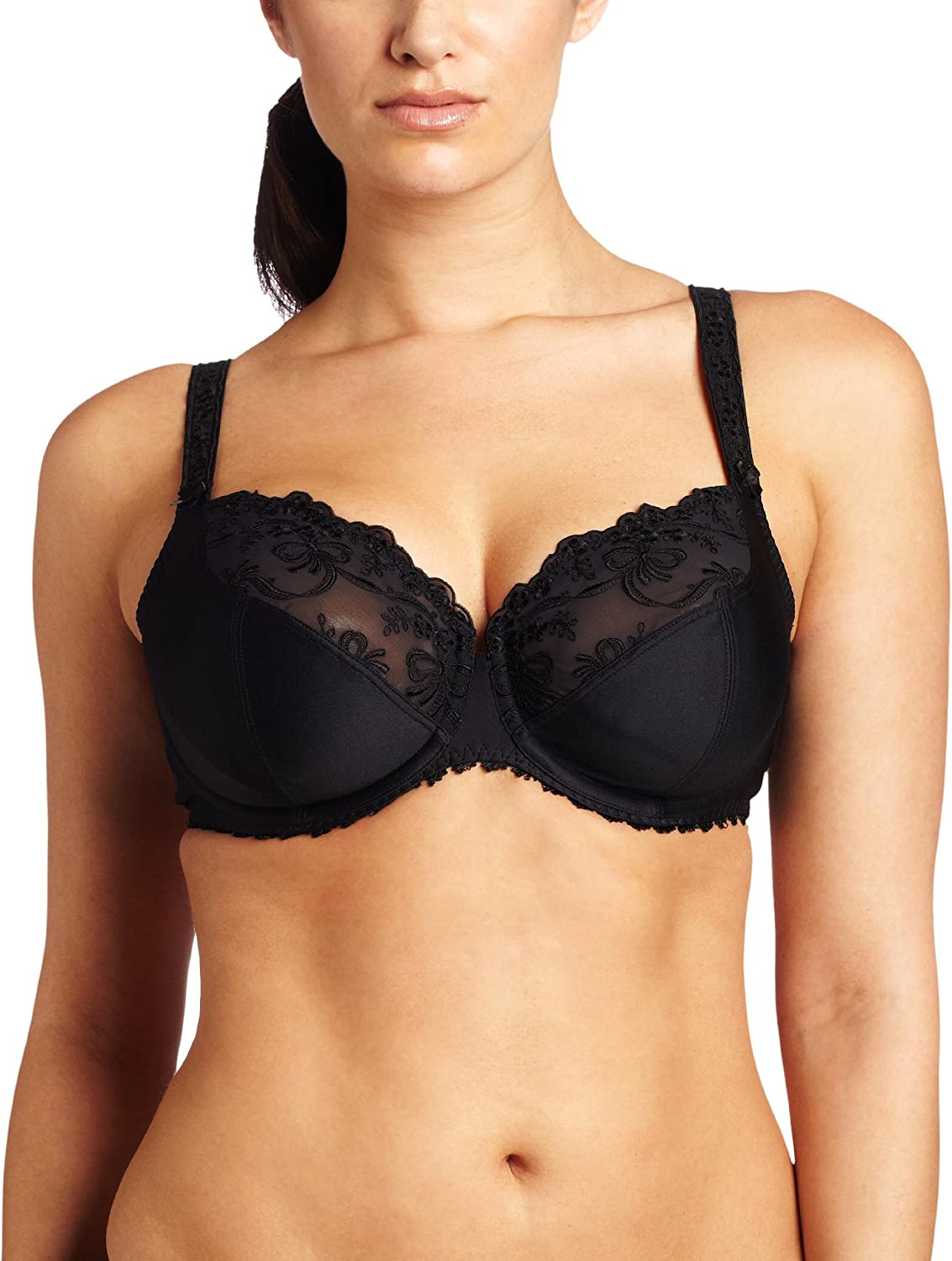 Anita pink Faia 5648001 Scarlett Black NonPadded Wired Balcony Bra
