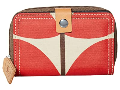 Orla Kiely Solid Stem Print Medium Foldout Wallet (Red) Bi-fold Wallet