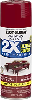 Rust-Oleum 327877-6 PK American Accents Spray Paint, 6 Pack, Gloss Colonial Red