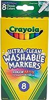 8 قطع كلاسيكية فائقة التنظيف وقابلة للغسل، خط رفيع، أقلام تلوين قصوى