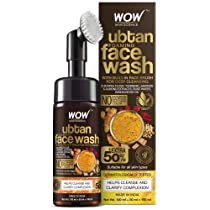 WOW Skin Science Ubtan Foaming Face Wash with Built-In Face Brush For Deep Cleansing – No Parabens, Sulphate, Silicones & Color, 150 mL