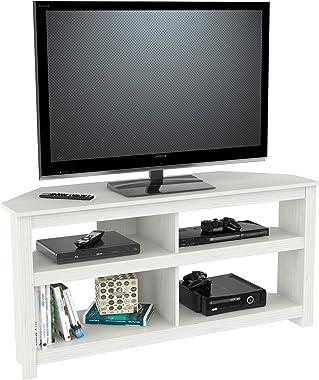 Inval Corner TV Stand, Laricina White