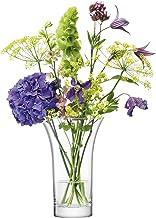LSA International Flower Flared Bouquet Vase H8.75 in Clear