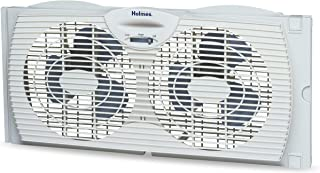 Holmes Window Fan with Twin 6-Inch Reversible Airflow Blades, White
