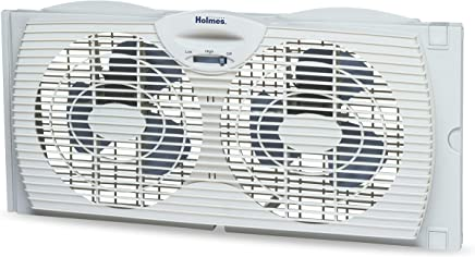 Holmes Window Fan with with Twin 6-Inch Reversible...