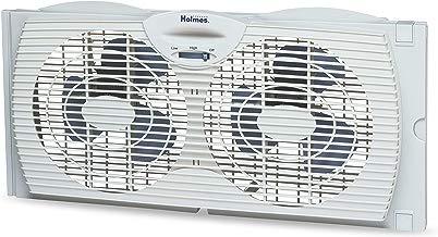 Holmes Window Fan with Twin 6-Inch Reversible Airflow...