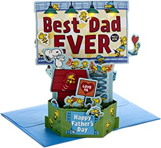 Hallmark Pop Up Sound and Light Father's Day Card 'Peanuts Snoopy' - Medium
