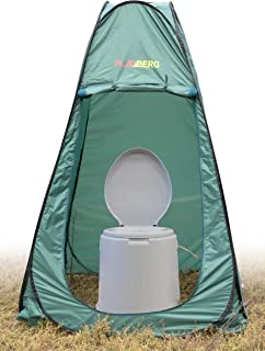 Basicwise Portable Travel Toilet for Camping and Hiking with Toilet/Dressing Pop Up Tent