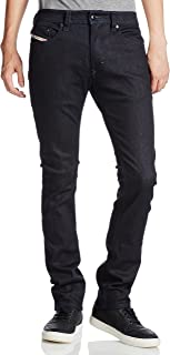 Diesel Men's Slim-Skinny Fit Thavar 0607A Stretch Jean Pants Blue