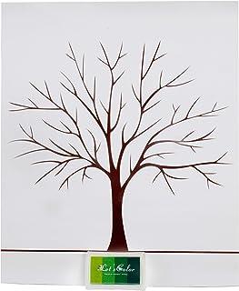 Herzl-Manufaktur 1art1 Juego de Fiesta confirmaci/ón Bautizo Boda cumplea/ños /árbol Juventud etc. Huellas Dactilares P/óster Wedding Tree Motivos: Libro de visitas