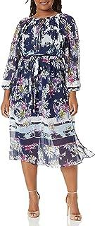 Taylor Dresses womens Long sleeve floral print maxi dress Casual Dress
