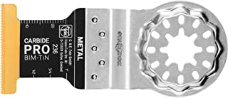 Fein 63502236260 Starlock E-Cut Carbide Pro Hard Metal Plunge Cut Saw Blade, TiN Coated, 1-3/4