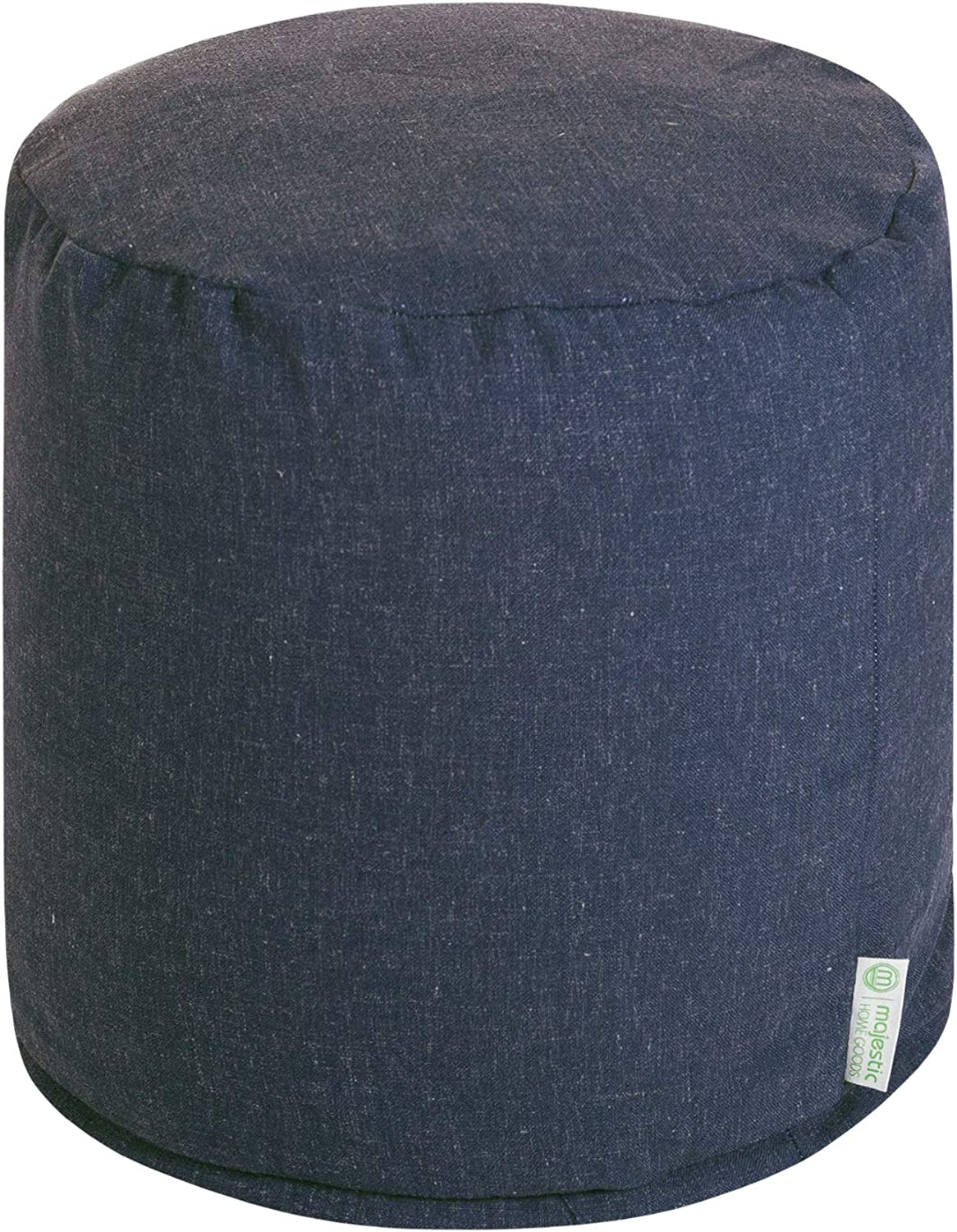 Majestic Home Goods Navy Wales Small Pouf